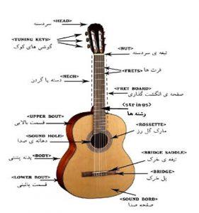 اجزای مختلف گیتار